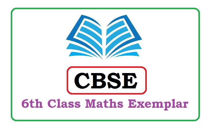 CBSE 6th Mathematics Exemplar 2020, CBSE 6th Exemplar 2020