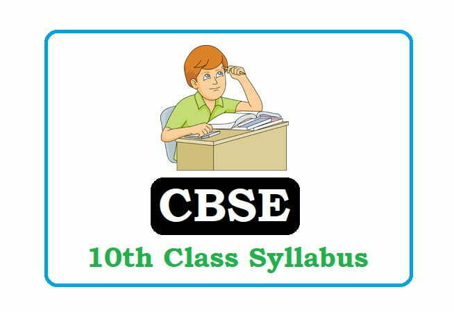 CBSE 10th Class Syllabus 2021, CBSE 10th Syllabus 2021, CBSE Syllabus 2021