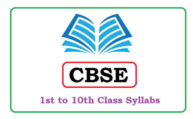 CBS 10th Class Syllabus 2020,CBSE Syllabus 2020 for Class 1, 2, 3, 4, 5, 6, 7, 8, 9, 10 Pdf Download
