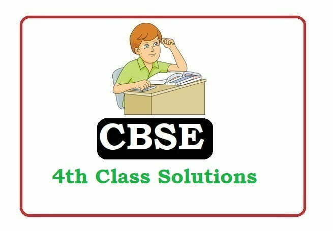 CBSE Class 4 Solutions 2020, CBSE Solutions 2020