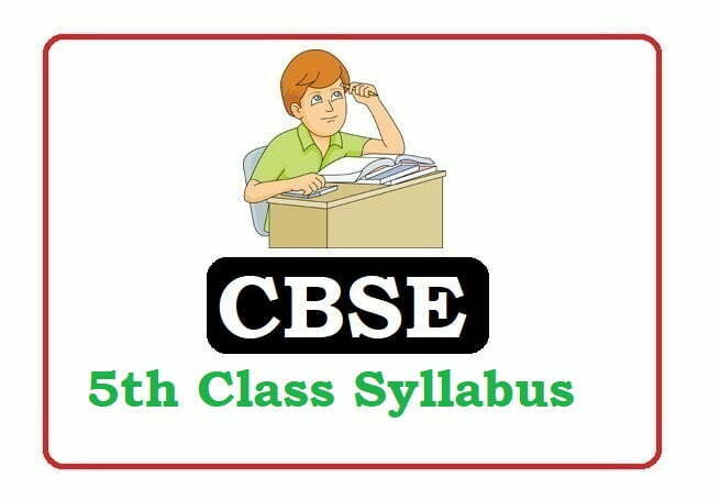 CBSE 4th Class Syllabus 2021, CBSE 4th Class new Syllabus 2021