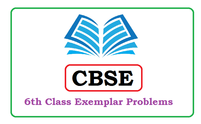 CBSE 6th Class Exemplar Problems 2020, CBSE 6th Class Exemplar 2020