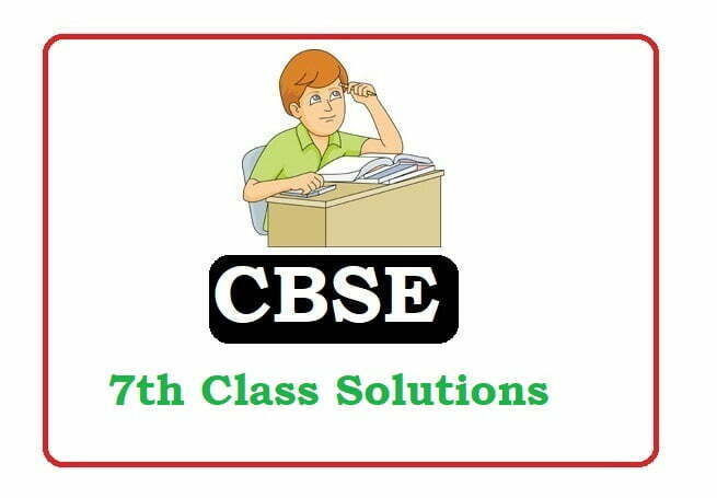 CBSE 7th Solutions 2020, CBSE Solutions 2020
