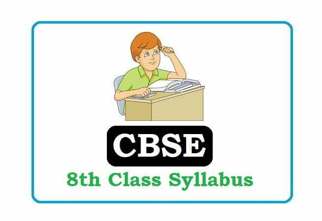 CBSE 8th Class Syllabus 2020, CBSE 8th Syllabus 2020, CBSE Syllabus 2020
