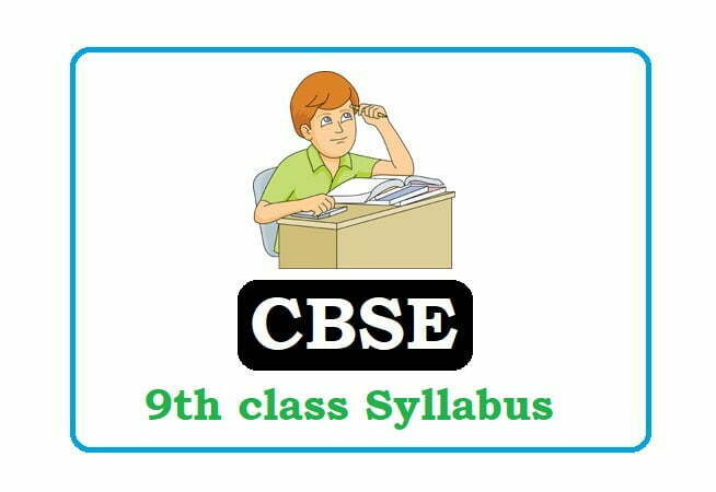 CBSE 9th Class Syllabus 2020, CBSE 9th Syllabus 2020, CBSE Syllabus 2020