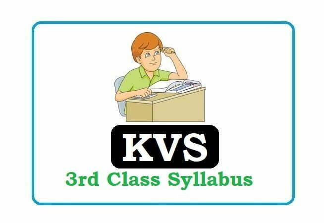 KVS 3rd Class Syllabus 2020, KVS 3rd Class Syllabus 2020, KVS 3rd Syllabus 2020